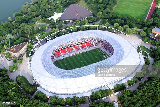 General view of the AWD Arena is seen during the FIFA Confederations Cup 2005 on June 16, 2005 in Hanover, Germany.