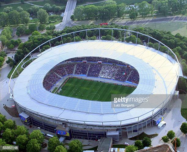 A general view of the AWD Arena is seen during the FIFA Confederations Cup 2005 on June 16 2005 in Hanover Germany