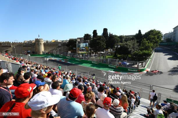 General view of the Azerbaijan Formula One Grand Prix at Baku City Circuit in Baku, Azerbaijan on June 25, 2017.
