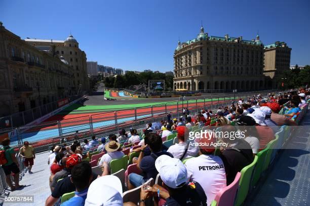 A general view of the Azerbaijan Formula One Grand Prix at Baku City Circuit in Baku Azerbaijan on June 25 2017