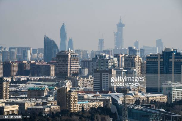 A general view of the Azeri capital Baku on March 22 2019