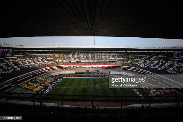General view of the Azteca Stadium during a 16th round match between Cruz Azul and Lobos BUAP as part of Torneo Apertura 2018 Liga MX at Azteca...