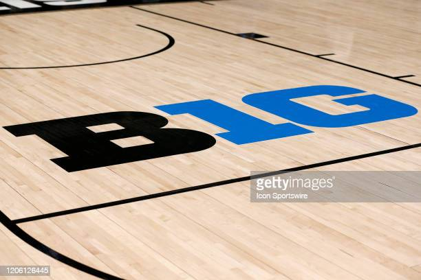 A general view of the B1G Logo during the womens Big Ten Championship game between the Maryland Terrapins and the Ohio State Buckeyes on March 08...
