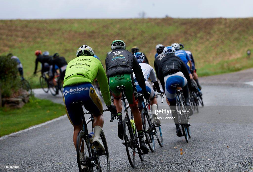 General view of the back of the peloton during stage two of Tour of Denmark PostNord Danmark Rundt 2017 from Svendborg to Odense on September 13, 2017 in Svendborg, Denmark.