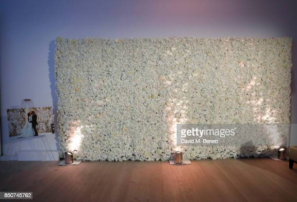 A general view of the backdrop from Kim Kardashian's wedding during E Entertainment Television celebrating 10 years of Keeping Up With The...