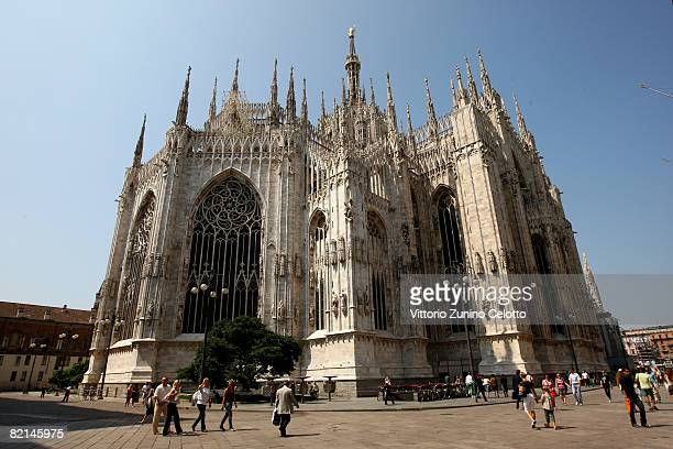 A general view of the backside of the Duomo on July 31 2008 in Milan Italy