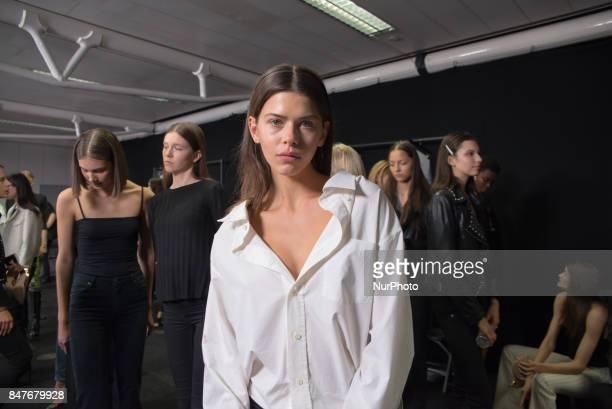 General view of the backstage and reharsal ahead of the Ralph amp Russo show during London Fashion Week September 2017 in London on September 15 2017