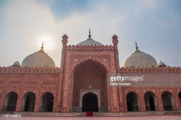 A general view of the Badshahi Mosque on October 17 2019 in Lahore Pakistan Their Royal Highnesses The Duke and Duchess of Cambridge are on a visit...