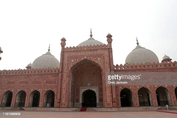 A general view of the Badshahi Mosque within the Walled City ahead of the arrival of Prince William Duke of Cambridge and Catherine Duchess of...