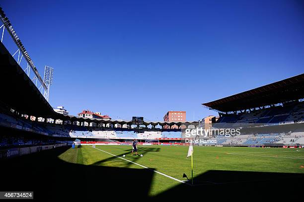 A general view of the Balaidos stadium ahead of a friendly match between RC Celta de Vigo and Southampton at Balaidos stadium on August 3 2013 in...