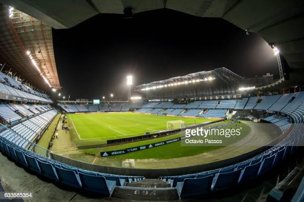 General view of the Balaidos Stadium prior the Spanish Copa Del Rey semifinal first leg football match RC Celta de Vigo vs Deportivo Alaves on...