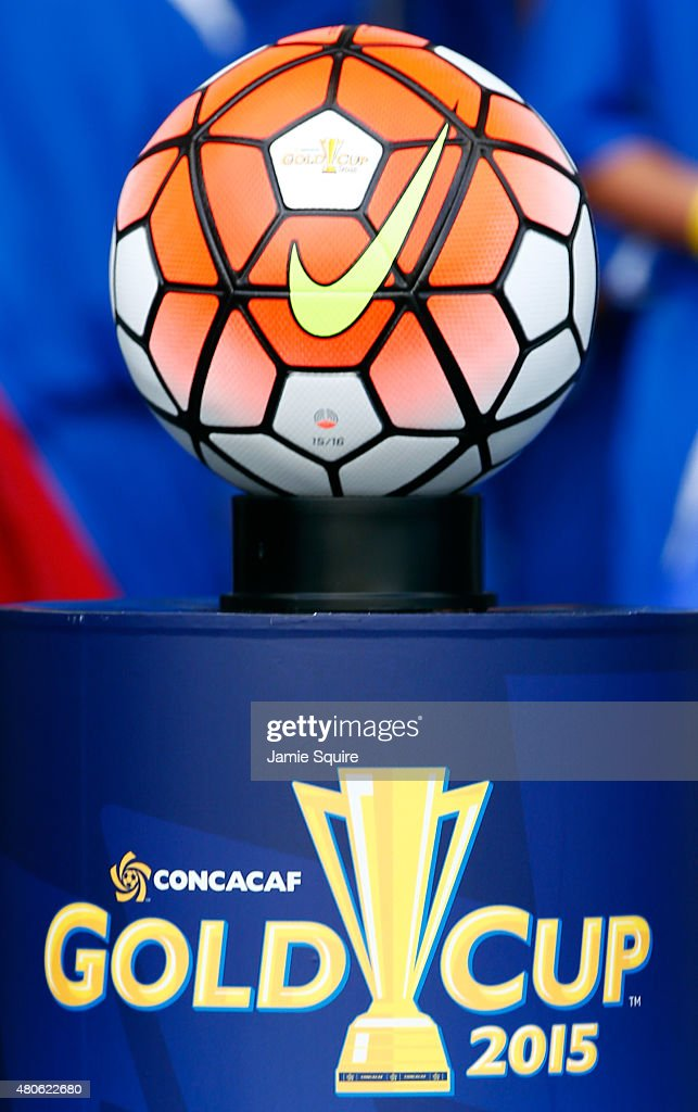 A general view of the ball during the 2015 CONCACAF Gold Cup match between Haiti and Honduras at Sporting Park on July 13, 2015 in Kansas City, Kansas.