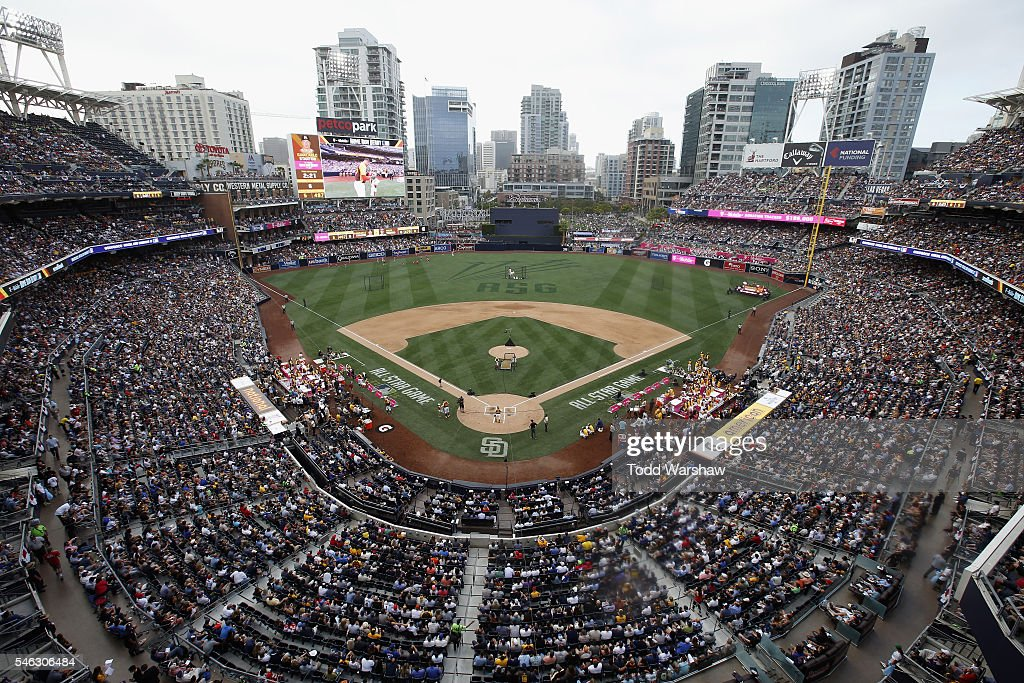 A general view of the ballpark during the T-Mobile Home Run Derby at PETCO Park on July 11, 2016 in San Diego, California.