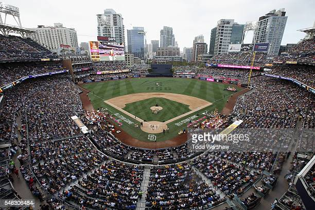 General view of the ballpark during the T-Mobile Home Run Derby at PETCO Park on July 11, 2016 in San Diego, California.