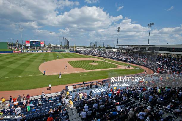 A general view of The Ballpark of the Palm Beaches during the spring training game between the Houston Astros and the New York Yankees on March 19...