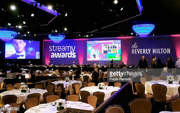 General view of the ballroom at the 6th annual Streamy Awards hosted by King Bach and live streamed on YouTube at The Beverly Hilton Hotel on October...