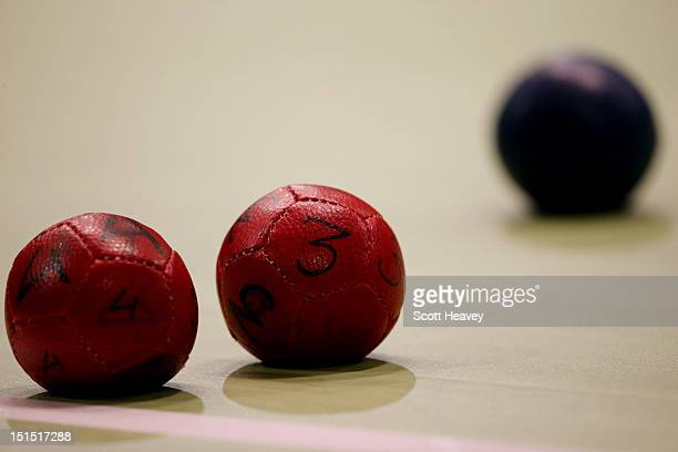 A general view of the balls during the Individual BC4 Boccia Gold Medal Match between Dirceu Jose Pinto of Brazil and Yuansen Zheng of China on day...