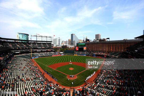General view of the Baltimore Orioles and Seattle Mariners game at Oriole Park at Camden Yards on September 22, 2019 in Baltimore, Maryland.