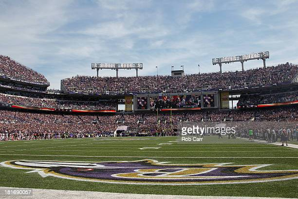 A general view of the Baltimore Ravens and Cleveland Browns game at MT Bank Stadium on September 15 2013 in Baltimore Maryland