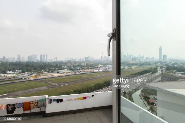 General view of the Bandar Malaysia site one of the 1MDB projects on July 29 2018 in Kuala Lumpur Malaysia The 486acre site is envisioned as a...