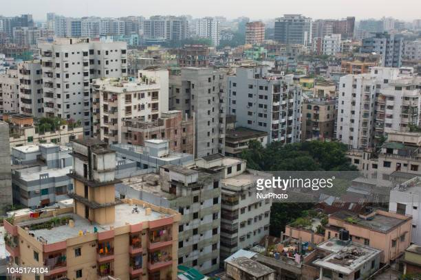A general view of the Bangladeshi capital city Dhaka in Dhaka Bangladesh on October 03 2018 Dhaka is the main hub of economic activity in the country...