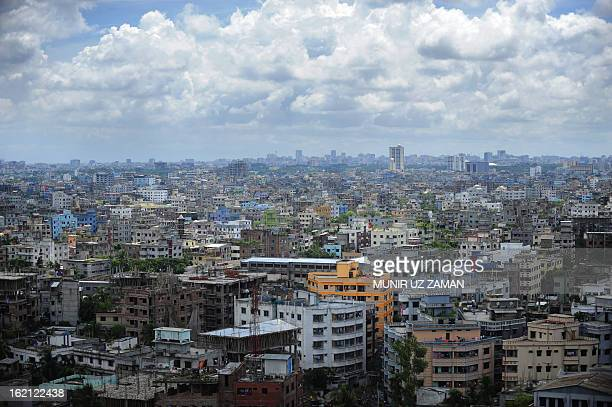 General view of the Bangladeshi capital city Dhaka on September 20, 2010. The South Asian nation sits on active tectonic plates and is frequently...
