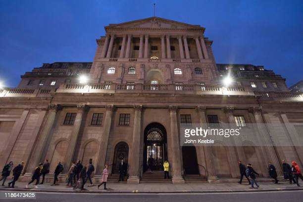 A general view of the Bank of England in the early evening on November 8 2019 in London England