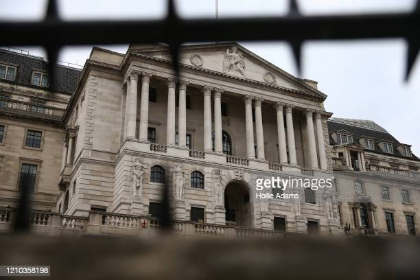 General view of the Bank of England on April 18 2020 in London England In a press conference on Thursday First Secretary of State Dominic Raab...