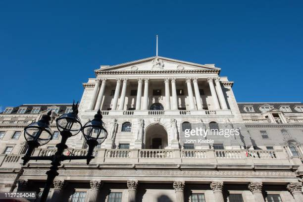 A general view of the Bank of England with a clear blue sky on January 28 2019 in London England