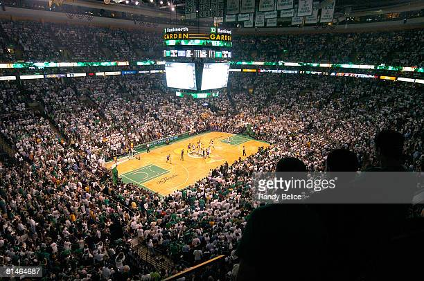 A general view of the TD Banknorth Garden during Game One of the 2008 NBA Finals at The TD Banknorth Garden on June 5 2008 in Boston Massachusetts...