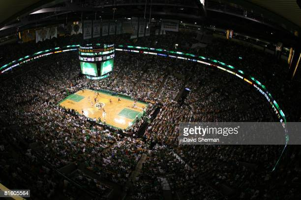 General view of the TD Banknorth Garden during Game Two of the 2008 NBA Finals between the Los Angeles and the Boston Celtics on June 8 2008 in...