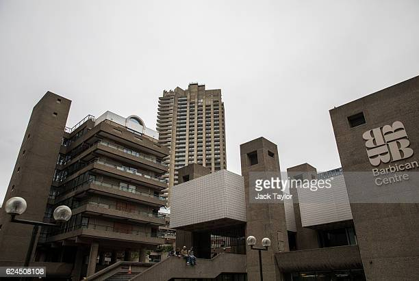 A general view of the Barbican Centre on November 18 2016 in London England Brutalism is a style of architecture which was popular between the 1950s...