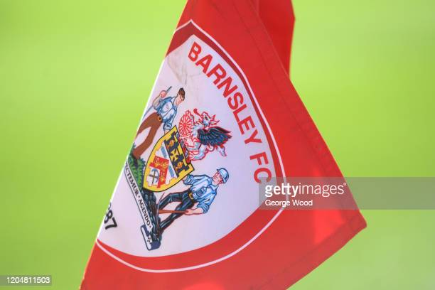A general view of the Barnsley badge on a corner flag ahead of the Sky Bet Championship match between Barnsley and Sheffield Wednesday at Oakwell...