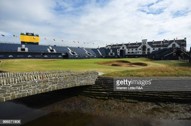 General view of the Barry Burn at the 18th hole during previews to the 147th Open Championship at Carnoustie Golf Club on July 15 2018 in Carnoustie...