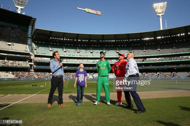 General view of the bat flip prior during the Big Bash League match between the Melbourne Stars and the Melbourne Renegades at the Melbourne Cricket...