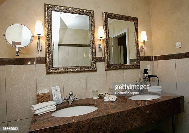 General view of the bathroom of a suite of the Brazilian squad's hotel Schloss Lerbach during the FIFA World Cup Germany 2006 on January 23 2006 in...