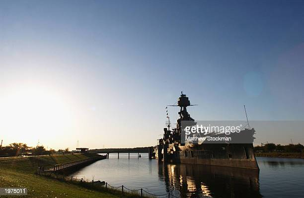 General view of the battleship Texas on April 27, 2003 in Houston, Texas.