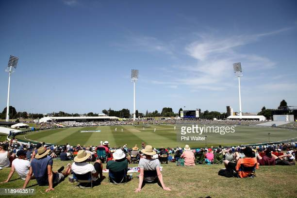 General view of the Bay Oval during day three of the first Test match between New Zealand and England at Bay Oval on November 23, 2019 in Mount...