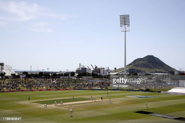 A general view of the Bay Oval during day three of the first Test match between New Zealand and England at Bay Oval on November 23 2019 in Mount...