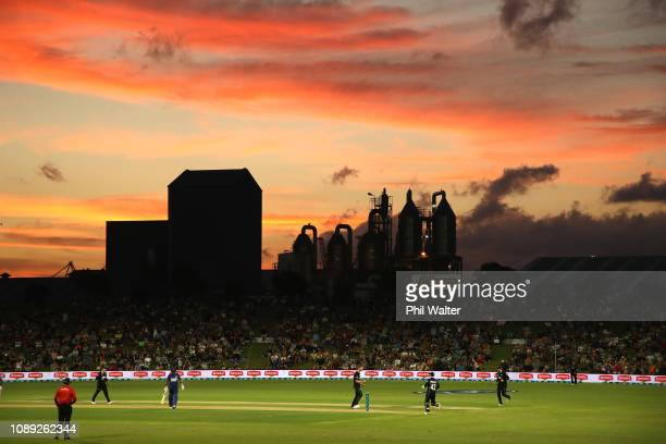 A general view of the Bay Oval during the One Day International match between New Zealand and Sri Lanka at Bay Oval on January 03 2019 in Mount...