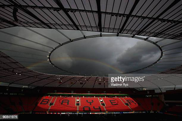 A general view of the BayArena is seen during the German Football National Team training session at BayArena on September 4 2009 in Leverkusen Germany