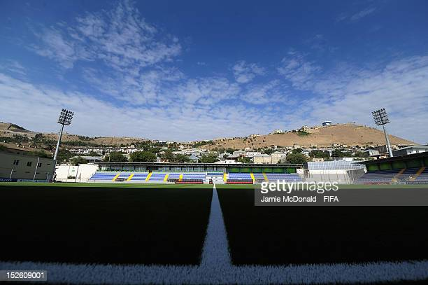 A general View of the Bayil Stadium prior to the FIFA U17 Women's World Cup 2012 Group C match between Mexico and New Zealand at Bayil Stadium on...