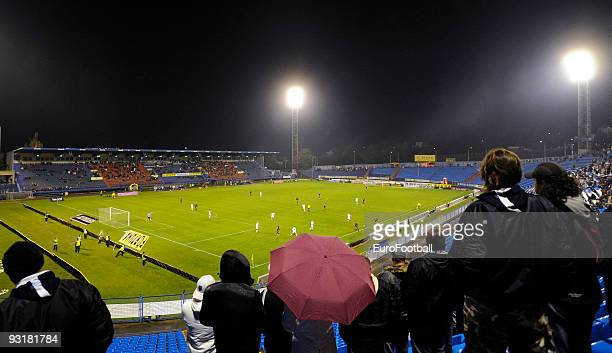 General view of the Bazaly Stadium taken during the Gambrinus Liga match between FC Banik Ostrava and FC Slovan Liberec held on October 17, 2009 at...
