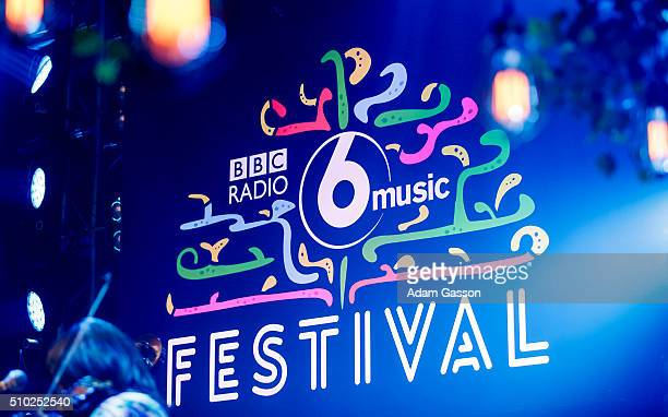 General view of the BBC 6 Music Festival logo at Colston Hall on February 14 2016 in Bristol England