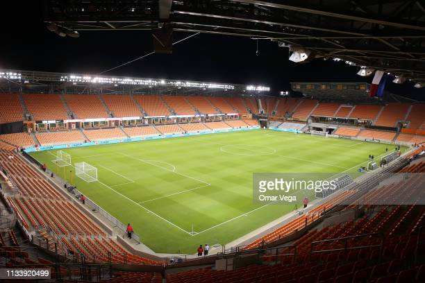 A general view of the BBVA Compass Stadium prior a quarter final first leg match between Houston Dynamo and Tigres UANL as part of the CONCACAF...