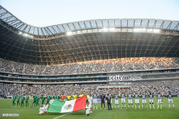 General view of the BBVA Stadium prior the 9th round match between Monterrey and Atlas as part of the Torneo Apertura 2017 Liga MX at BBVA Bancomer...