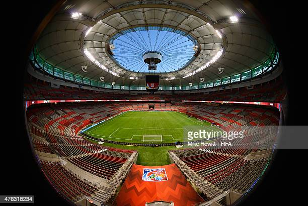General view of the BC Place Stadium prepared for the FIFA Women's World Cup 2015 on June 7, 2015 in Vancouver, Canada.