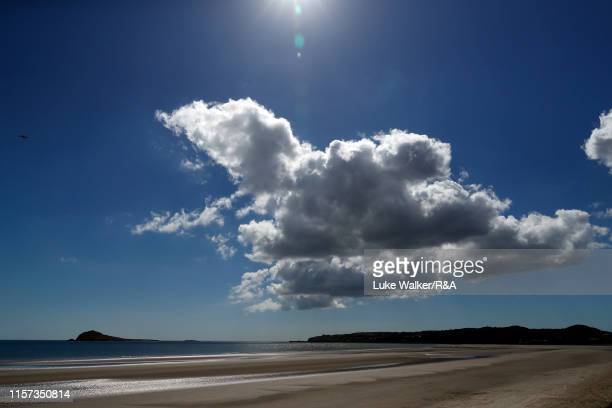 A general view of the beach adjacent to the course during day five of the RA Amateur Championship at Portmarnock Golf Club on June 21 2019 in...