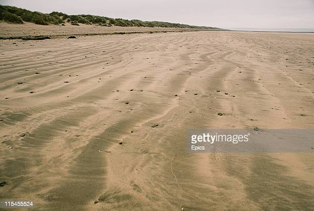General view of the beach at the seaside resort of Saunton Sands, Devon, England, September 1982.