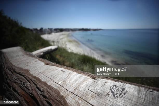 A general view of the beach during the FIFA U20 Women's World Cup France 2018 on August 3 2018 in Concarneau France